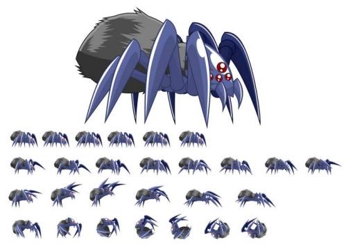 各种各样的蜘蛛昆虫免抠矢量图片素材