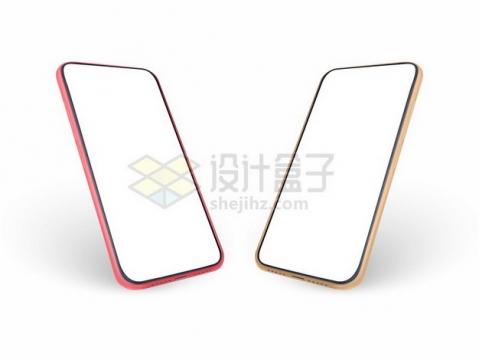 2款全面屏手机屏幕显示样机323897png图片素材