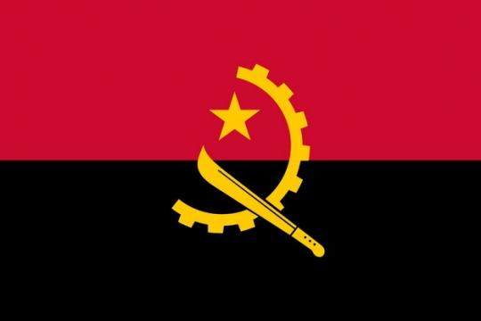 标准版安哥拉国旗图片素材