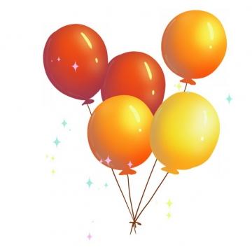 红色橙色黄色国庆节庆祝气球958950png免抠图片素材