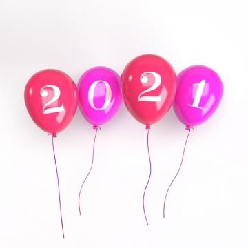 红色气球2021年立体字体206041免抠图片素材