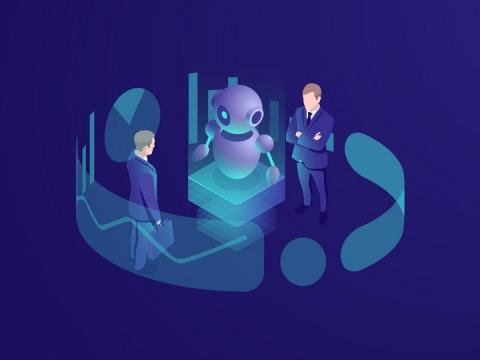 2.5D风格人工智能技术科幻风格