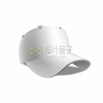 白色棒球帽鸭舌帽休闲帽子png图片素材