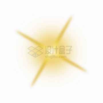 黄色的星光星芒光芒效果png图片素材6798092
