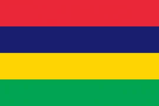 标准版毛里求斯国旗图片素材
