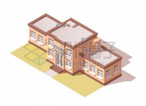 2.5D风格学校教学大楼619054矢量图片免抠素材