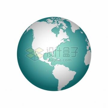 蓝色立体地球模型712160png图片素材