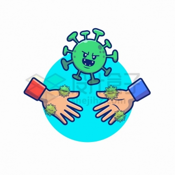 MBE风格握手会传播新型冠状病毒png图片素材