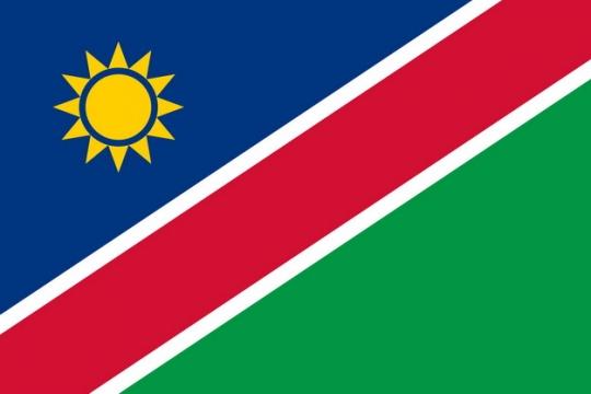标准版纳米比亚国旗图片素材