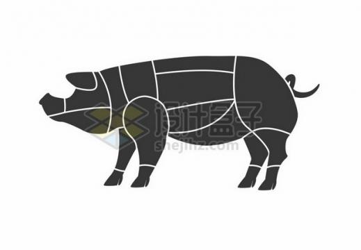 猪肉分解图部位分割图556640 png图片素材