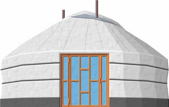 白色的蒙古包png图片素材