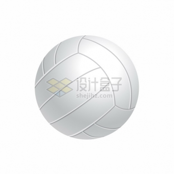 逼真的白色3D立体排球体育球类png图片素材