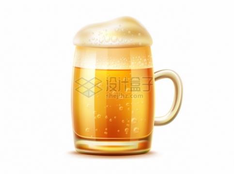 带把的啤酒杯中盛满美味啤酒859401png图片矢量图素材