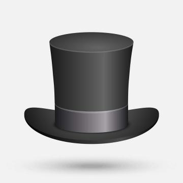 黑色的魔术帽礼帽高帽子免抠矢量图片素材