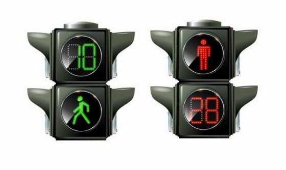 红灯停绿灯行红绿灯交通信号灯免抠png图片矢量图素材