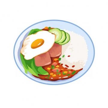 美味煎蛋盖浇饭326819png图片素材