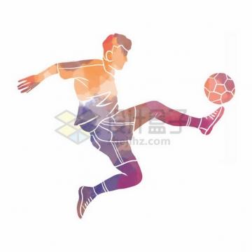 踢足球彩色涂鸦4762907png免抠图片素材