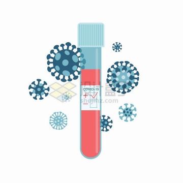医用试管血液中的新型冠状病毒含量png图片免抠矢量素材