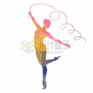 艺术体操彩色涂鸦1529753png免抠图片素材