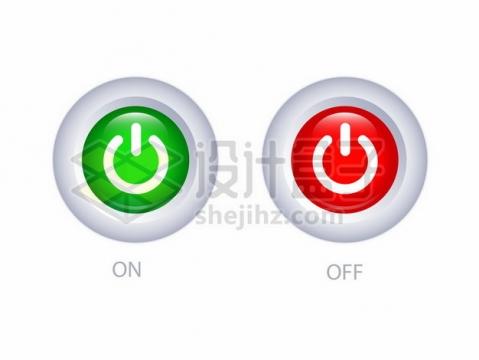 逼真的开关圆形按钮366257png图片素材