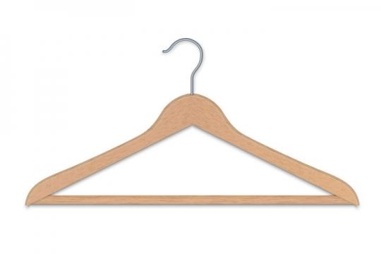 一个木质衣架免抠矢量图片素材