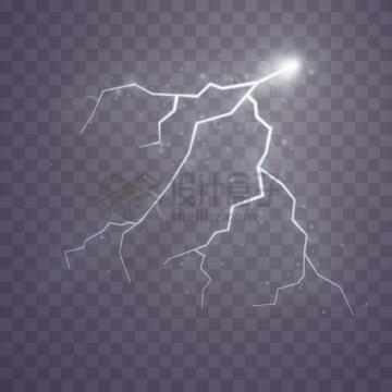白色闪电效果png图片素材434332