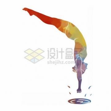 跳水彩色涂鸦7643494png免抠图片素材