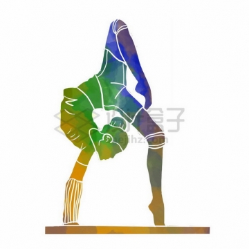 体操平衡木彩色涂鸦653293png免抠图片素材