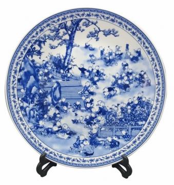 好看的青花瓷盘子180568png图片素材