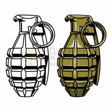 2款漫画风格的手榴弹593910png矢量图片素材