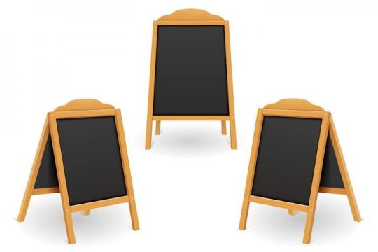 不同角度的餐厅门店小黑板图片免抠矢量图素材