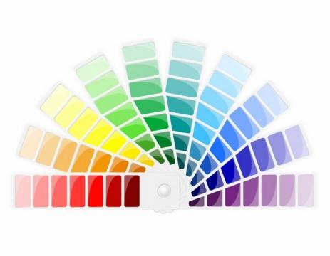 散开扇形的色卡色彩调色板png图片免抠eps矢量素材