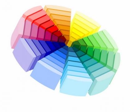 3D立体风格的色卡色彩调色板png图片免抠eps矢量素材