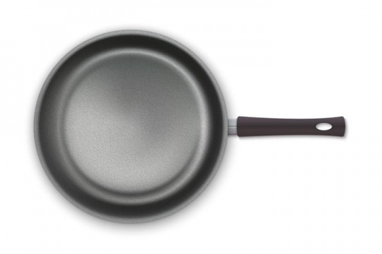 黑色平底锅俯视图厨房厨具免抠矢量图片素材