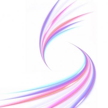 绚丽的七彩虹色发光曲线线条装饰933762png图片素材