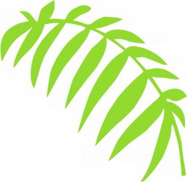 绿色树叶简笔画843168png免抠图片素材