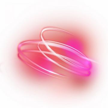 绚丽的红色发光曲线旋转线条装饰411832png图片素材