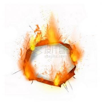 燃烧着火焰的纸张特效果977875png图片素材