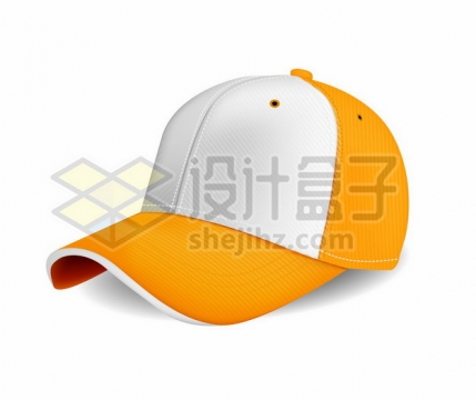 橙色和白色的棒球帽鸭舌帽子257414png图片素材