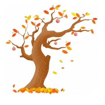 秋天叶子掉光的大树手绘插画832648png图片免抠素材