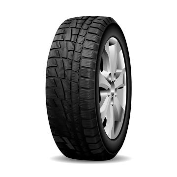 侧前方视角的汽车轮胎和铝合金金属轮毂png图片免抠矢量素材