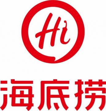 竖版火锅品牌海底捞标志logo png图片免抠素材