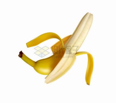 撕开皮的新鲜香蕉美味水果png图片免抠矢量素材