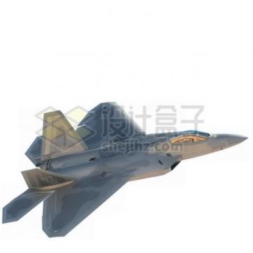 F22猛禽战斗机侧视图png免抠图片素材