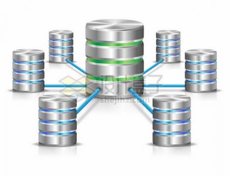 金属色圆柱形服务器象征了云计算服务458329png图片素材