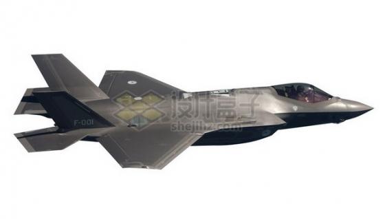 F35肥电战斗机舰载机侧视图png免抠图片素材