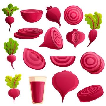 各种红萝卜甜菜根美味蔬菜图片免抠矢量素材
