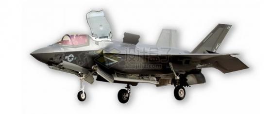 F-35B肥电战斗机垂直起降飞机舰载机png免抠图片素材