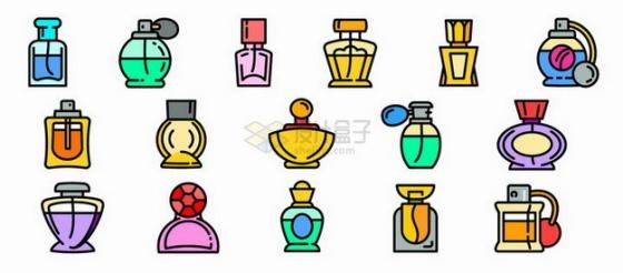 MBE风格香水瓶手绘插画png图片素材