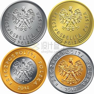 波兰兹罗提硬币货币外国钱币png图片素材